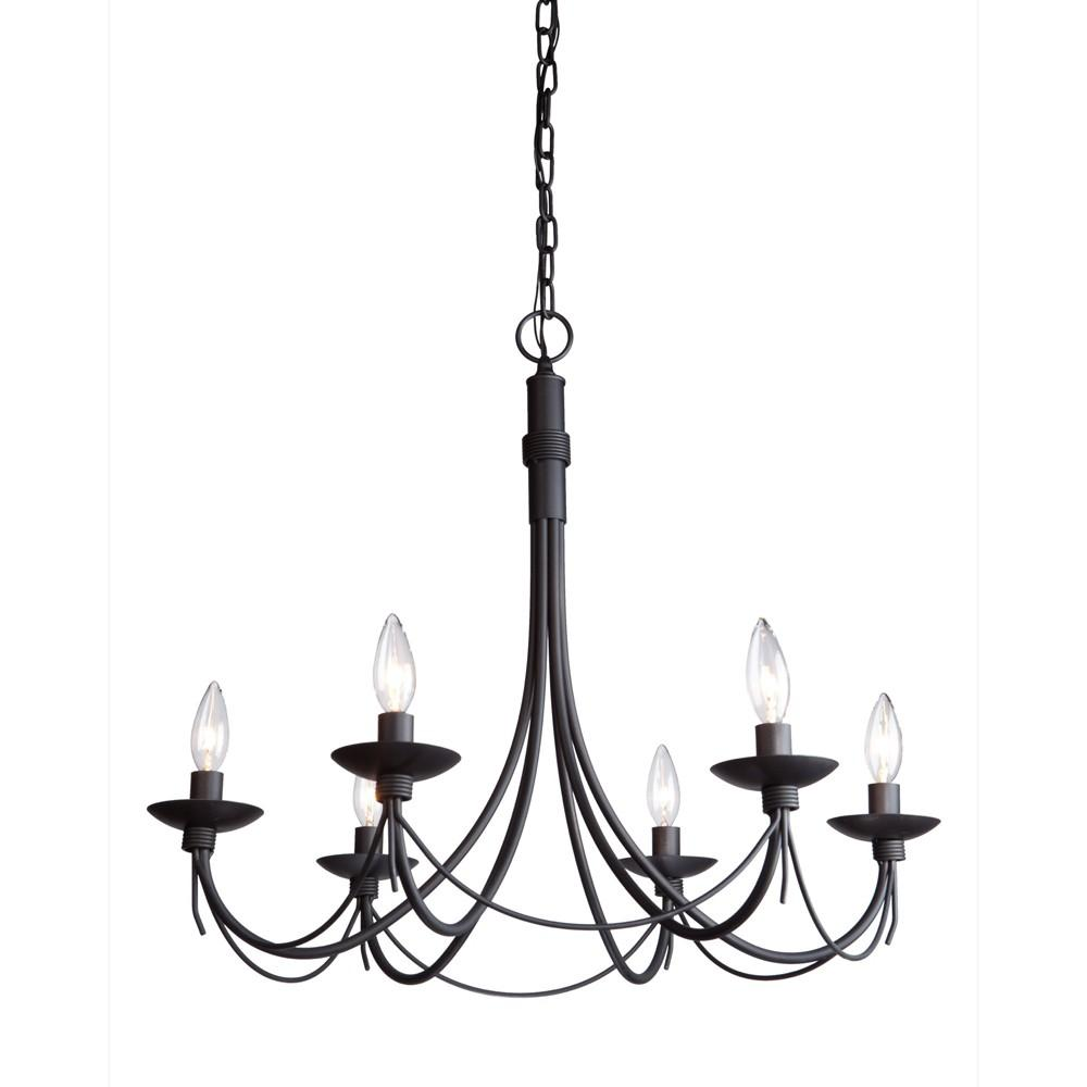 Forged Wrought Iron Chandelier