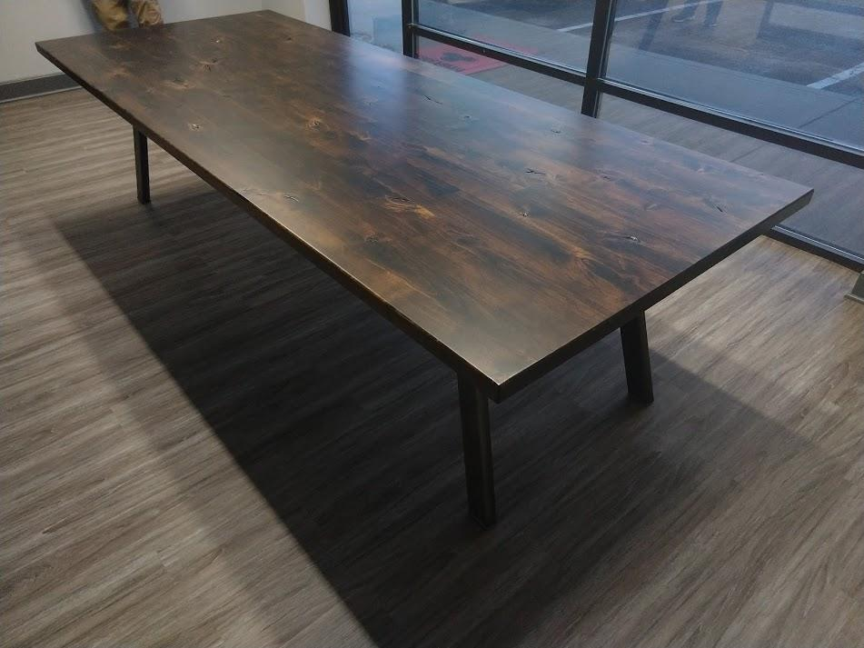 "9.5' L x 45"" W Fulton Conference Table in Tobacco Finish."