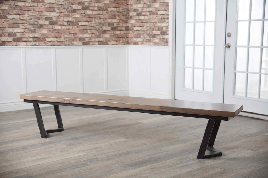 Arkwright Dining Bench in Barn Wood Finish