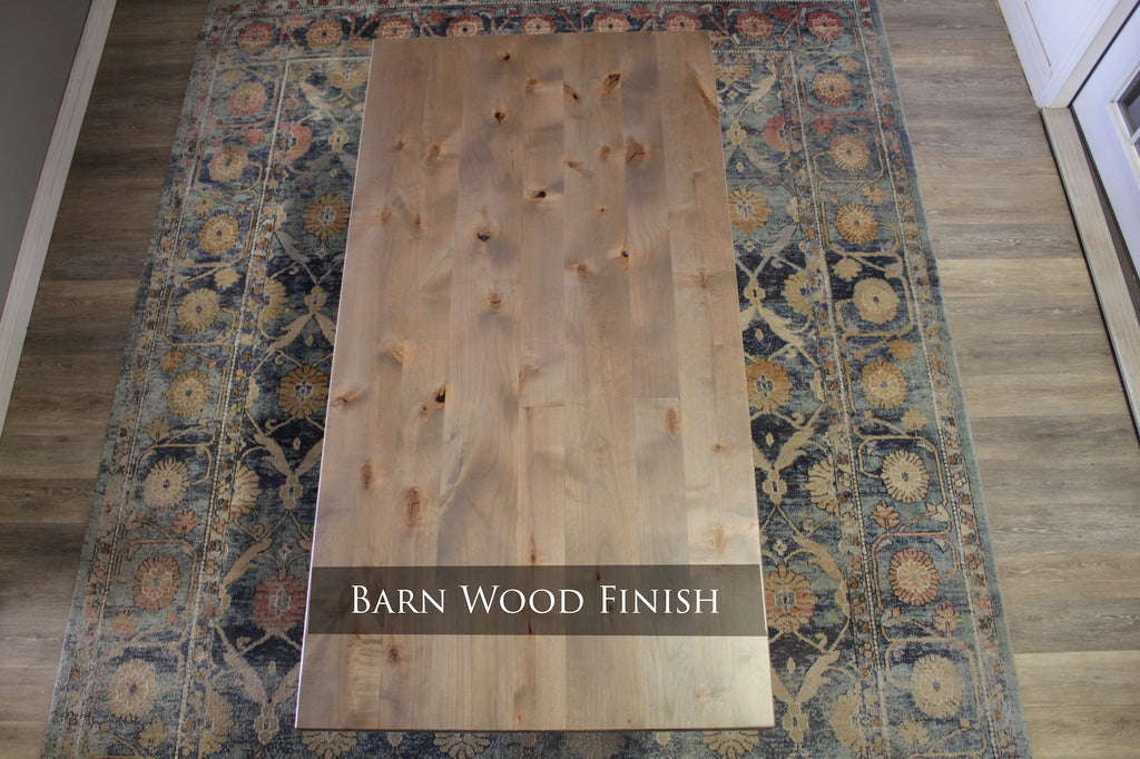 Barn Wood Finish with Top Knots Filled