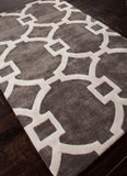Interlock Rug - Smoke and White