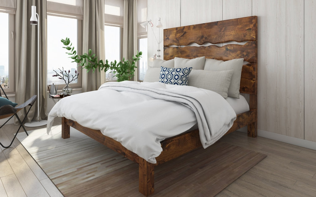 Queen Live Edge Bed in Tuscany Finish