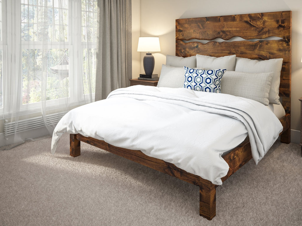 Queen size Live Edge Bed in Tuscany Finish
