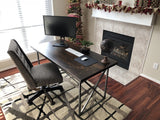 5' L Contemporary Computer Desk in Tobacco Finish.