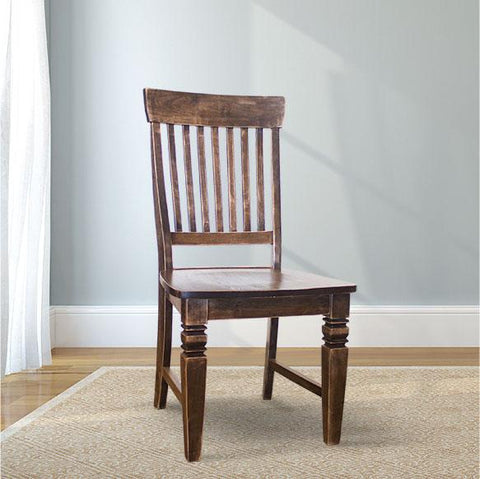 Charlotte Wood Dining Chair in a custom finish