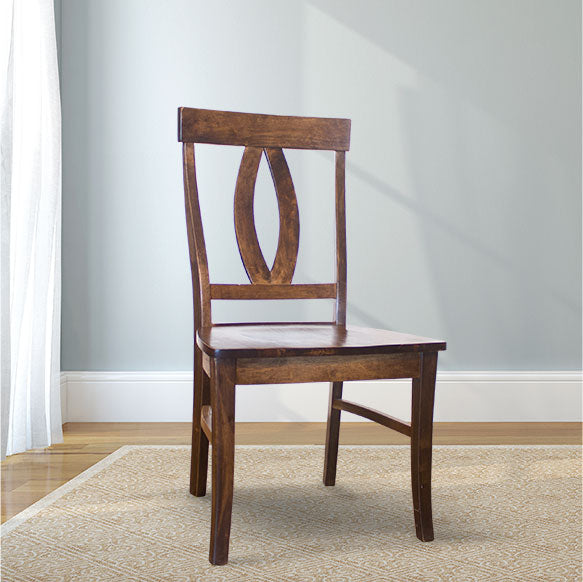 Elizabeth Wood Dining Chair in Tobacco Finish