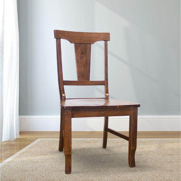 Grace Wood Dining Chair in Tobacco Finish