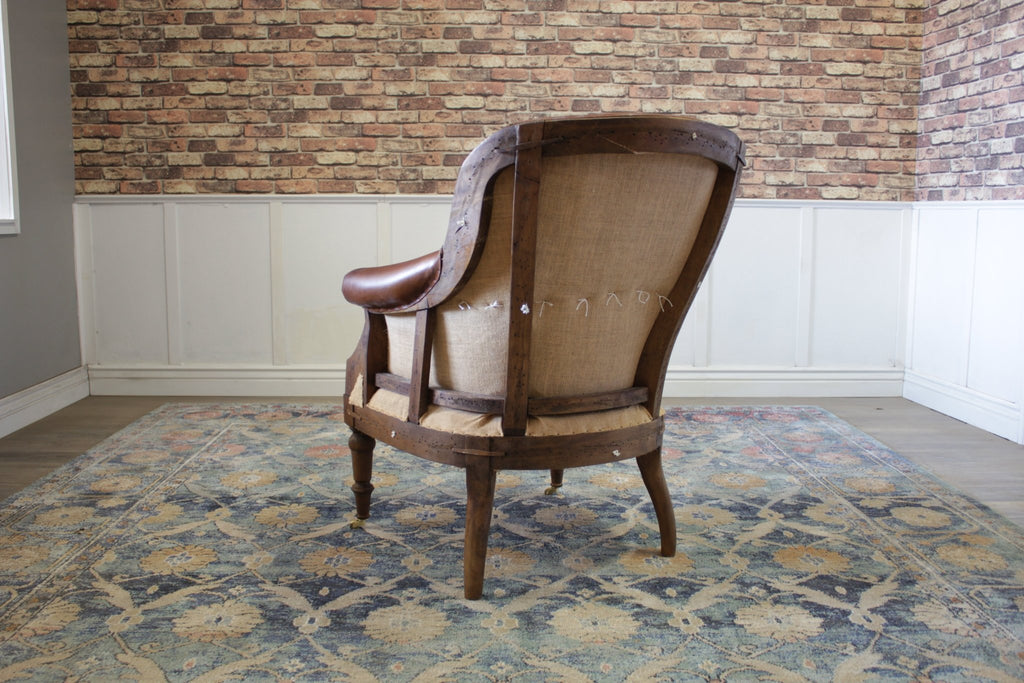 Deconstructed Club Chair - Vintage Cigar Leather