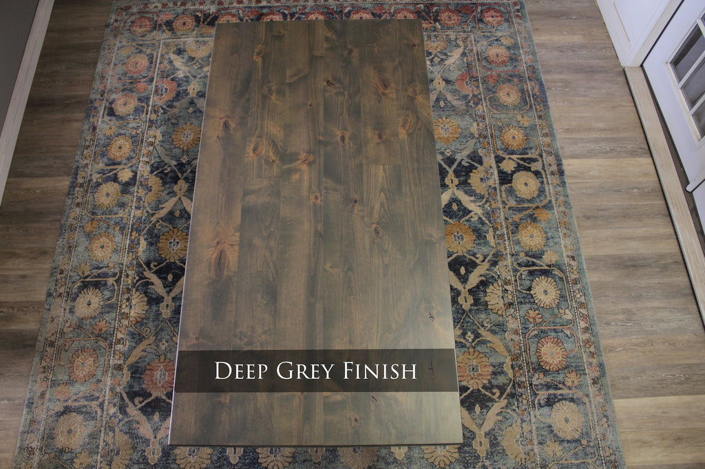Deep Grey Finish with Natural / Open Knots