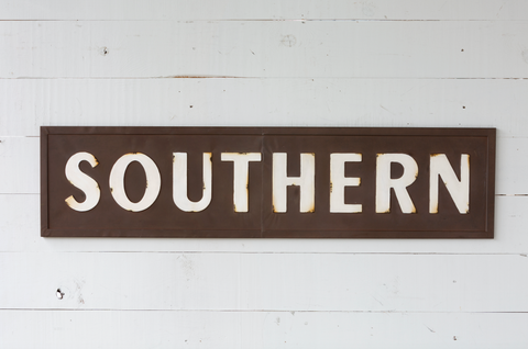 Embossed Metal Southern Sign