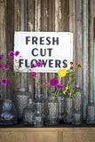 Fresh Cut Flowers Metal Sign
