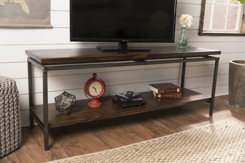 Floating Top Steel Base Media Console