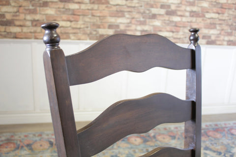 Jessie Dining Chair with Tobacco finish.