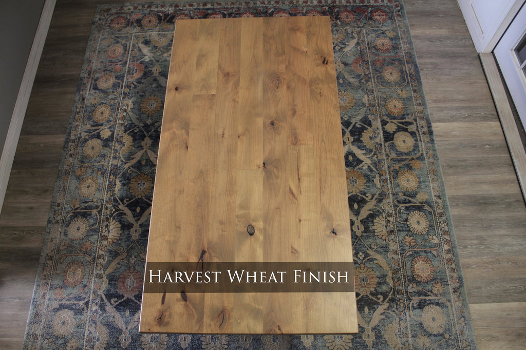 Harvest Wheat Finish with Natural / Open Knots