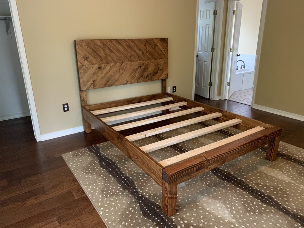 Queen Journeyman Bed with Early American finish.