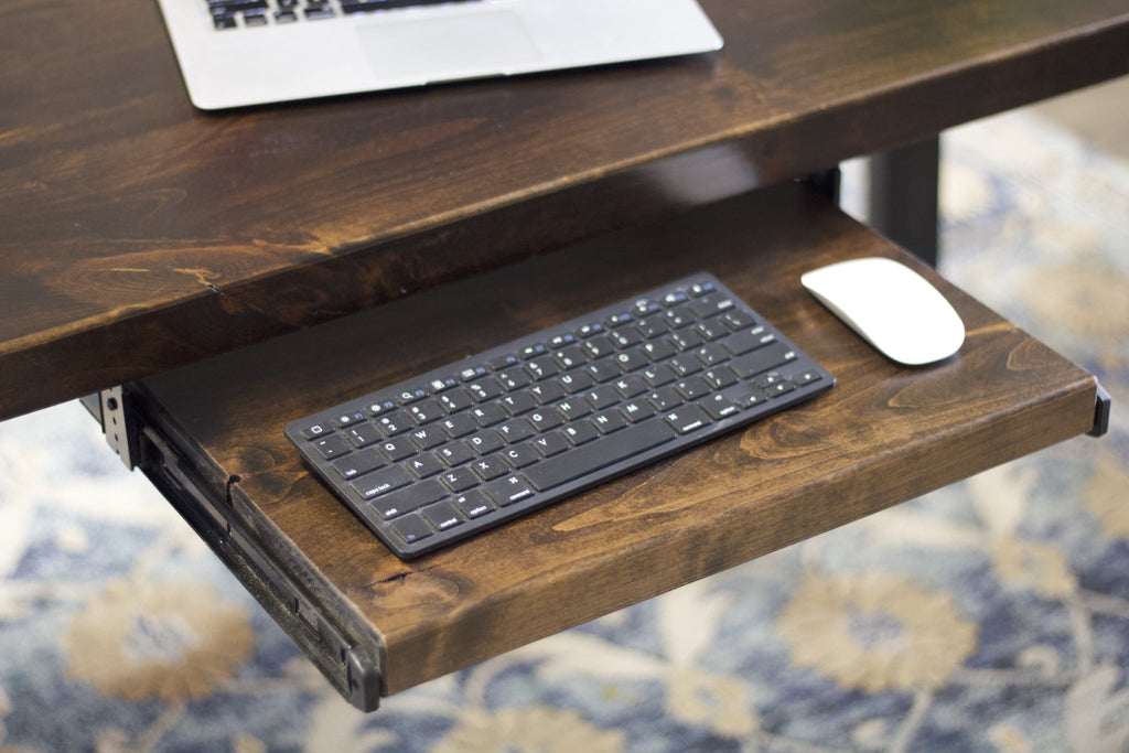 Customize tour desk with a Keyboard Tray.