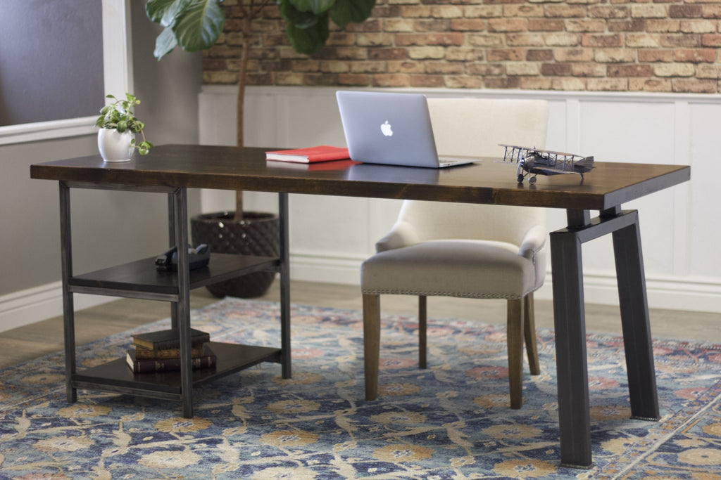 Steel Fulton Office Desk with Shelving