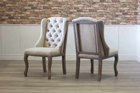 Anna Deconstructed Tufted Wingback Chair