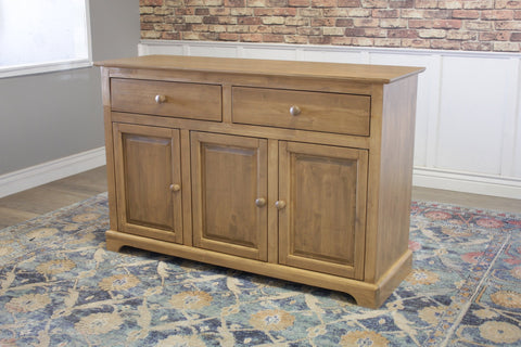 "Farmhouse Buffet in Harvest Wheat Finish. 54"" wide, 18"" deep, 36"" tall"