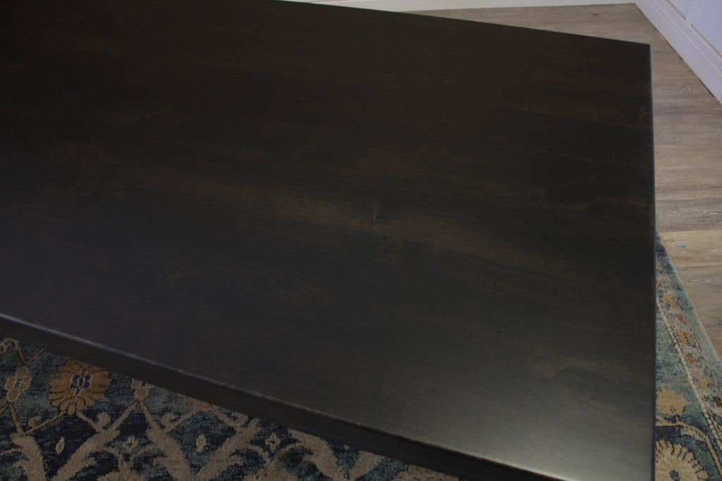 Farmhouse Table - Hardwood in Charred Ember Finish with Jointed Top.