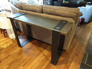 4' L Modern Industrial Sofa Table.