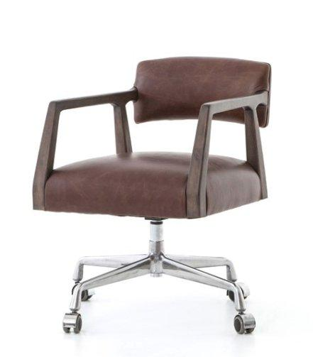 Tyler Desk Chair - Brown Leather