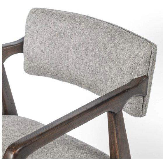 Tyler Desk Chair - White Grey