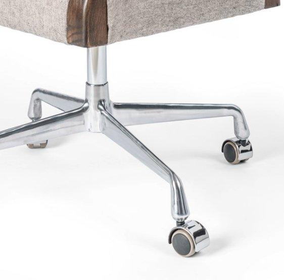 Tyler Desk Chair - White Grey Leg Detail