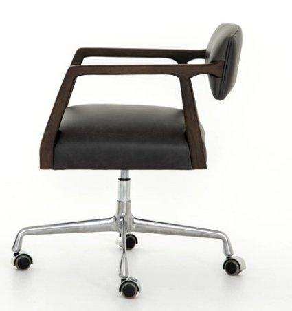 Tyler Desk Chair - Ebony Leather