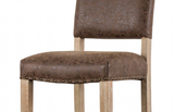 Faux Leather Carson Stool with Nailhead Trim