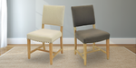 Light Sand and Cafe Mocha Carson Dining Chairs