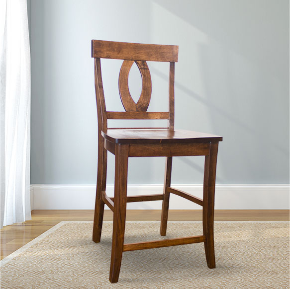 Elizabeth Counter Stool in Tobacco Finish