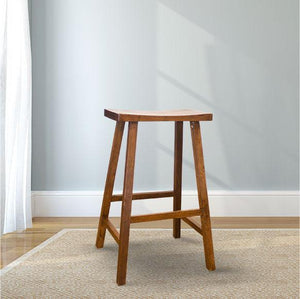 Counter height Saddle Stool in Tobacco Finish