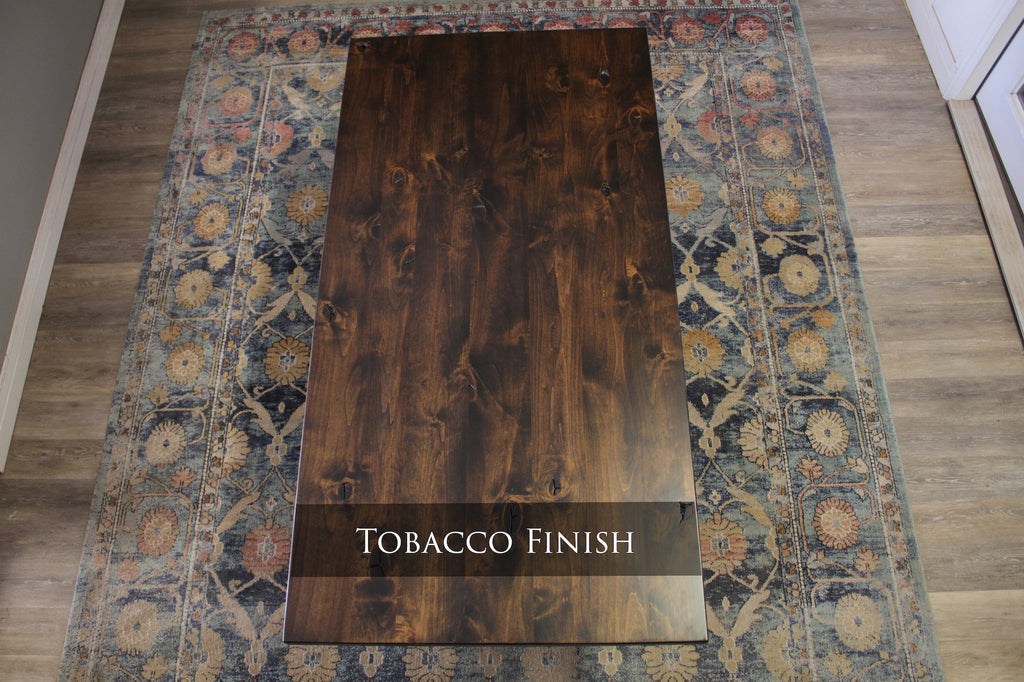 Tobacco Finish with Natural / Open Knots