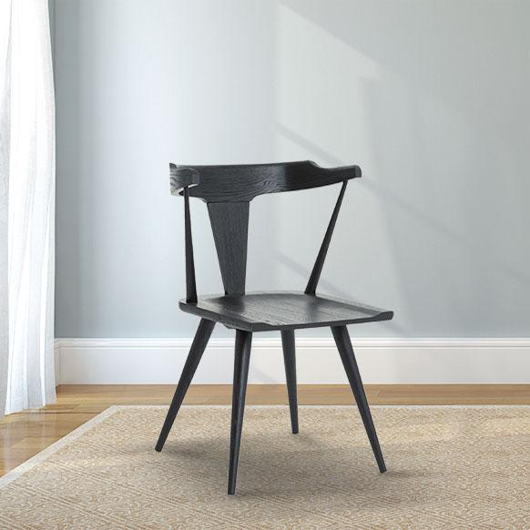 Danish Black Oak Dining Chair
