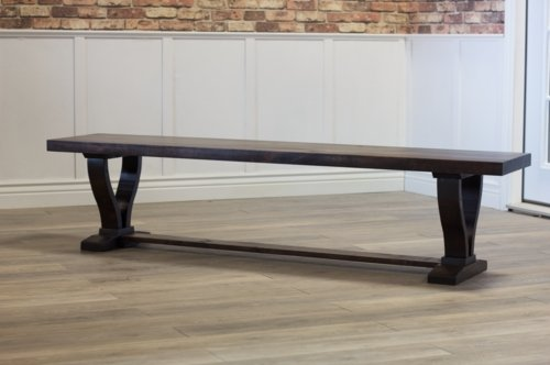 Vera Dining Bench in Tobacco Finish.
