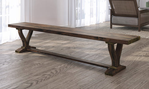 Vera Dining Bench in Tobacco Finish