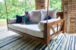 Sketched Indoor / Outdoor Rug, 10' x 14'. Pictured with our Avery Porch Swing Daybed.