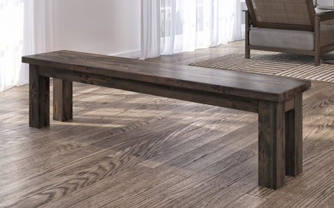 Farmhouse Bench in Deep Grey finish