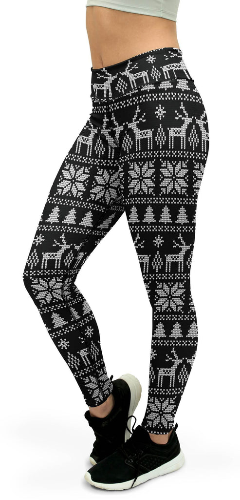 B&W Ugly Christmas Yoga Pants
