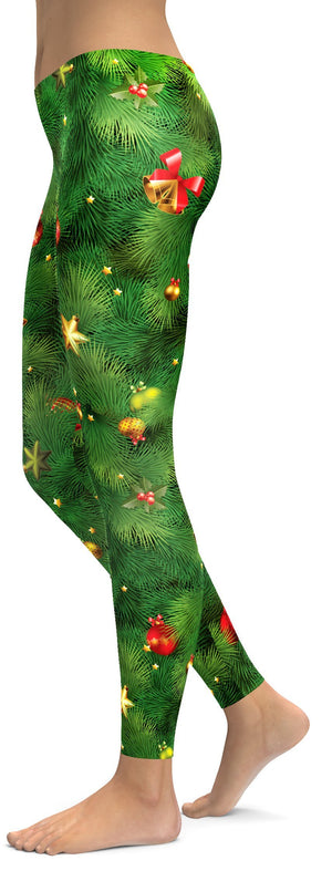 Realistic Christmas Tree Leggings