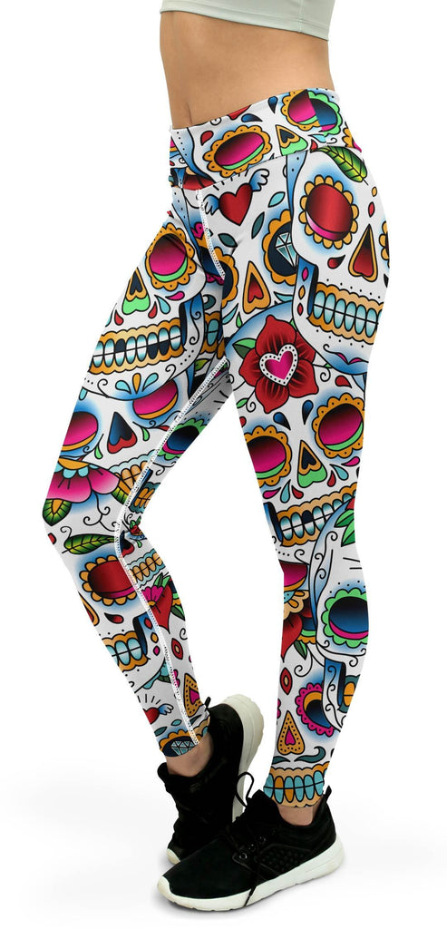 Colorful Dead - Sugar Skull Yoga Pants
