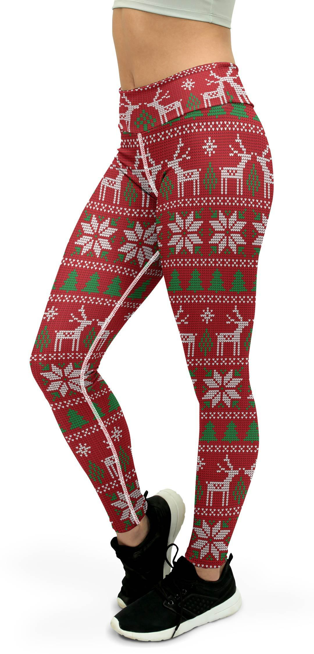 Red Ugly Christmas Yoga Pants