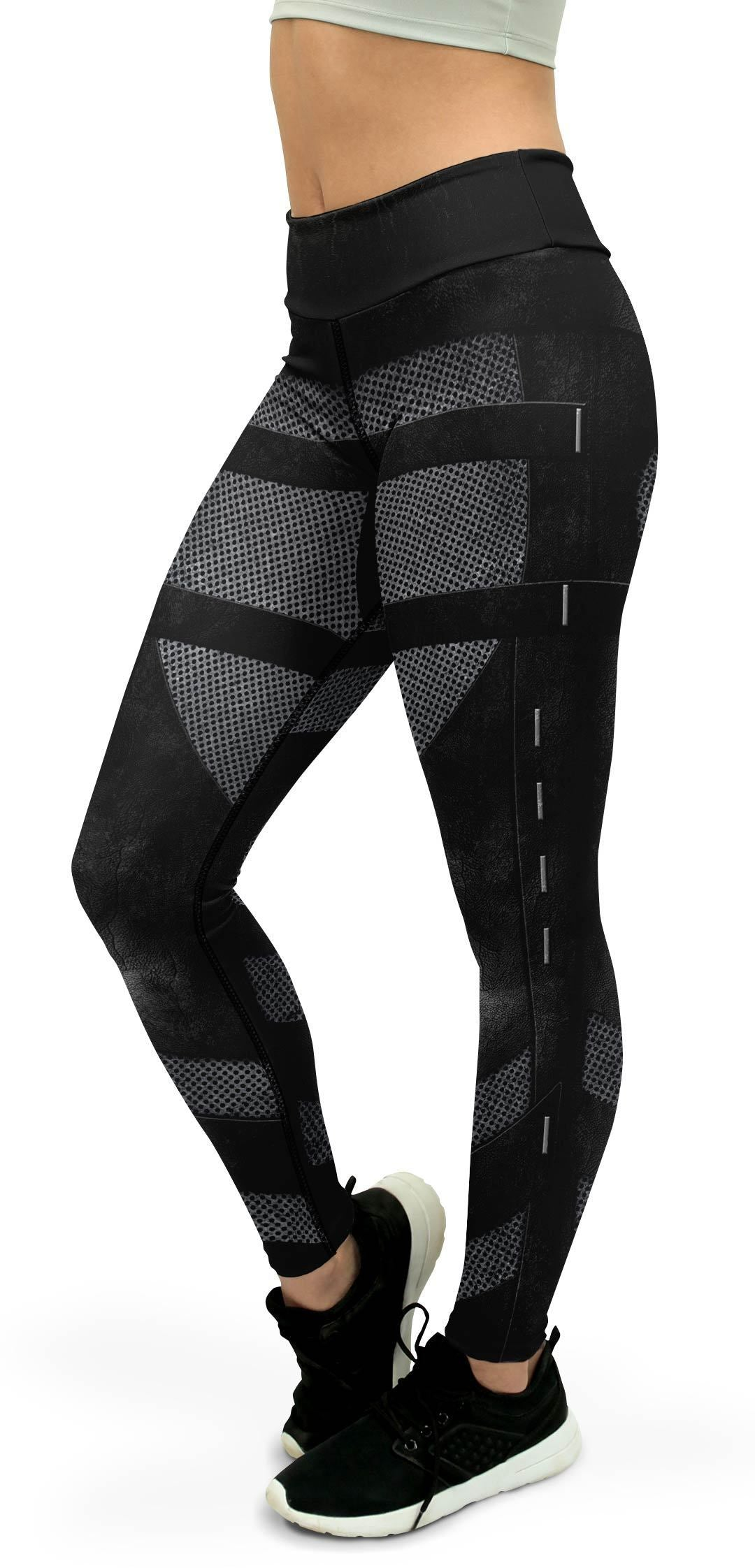 Stealth Leather Armor Yoga Pants