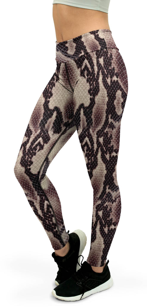 Anaconda Snake Skin Yoga Pants