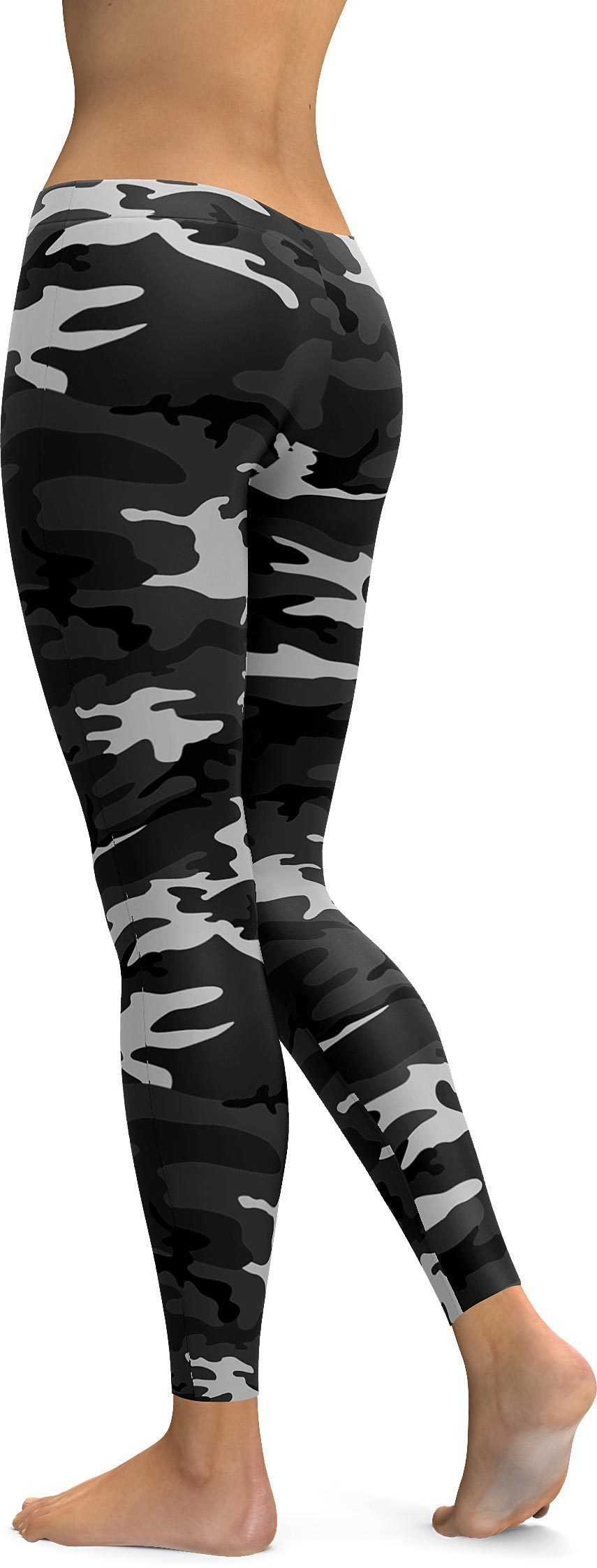 Dark Grey Camo Leggings