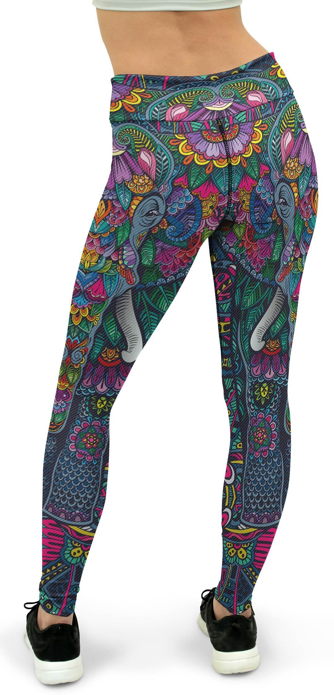 Colorful Elephant Yoga Pants