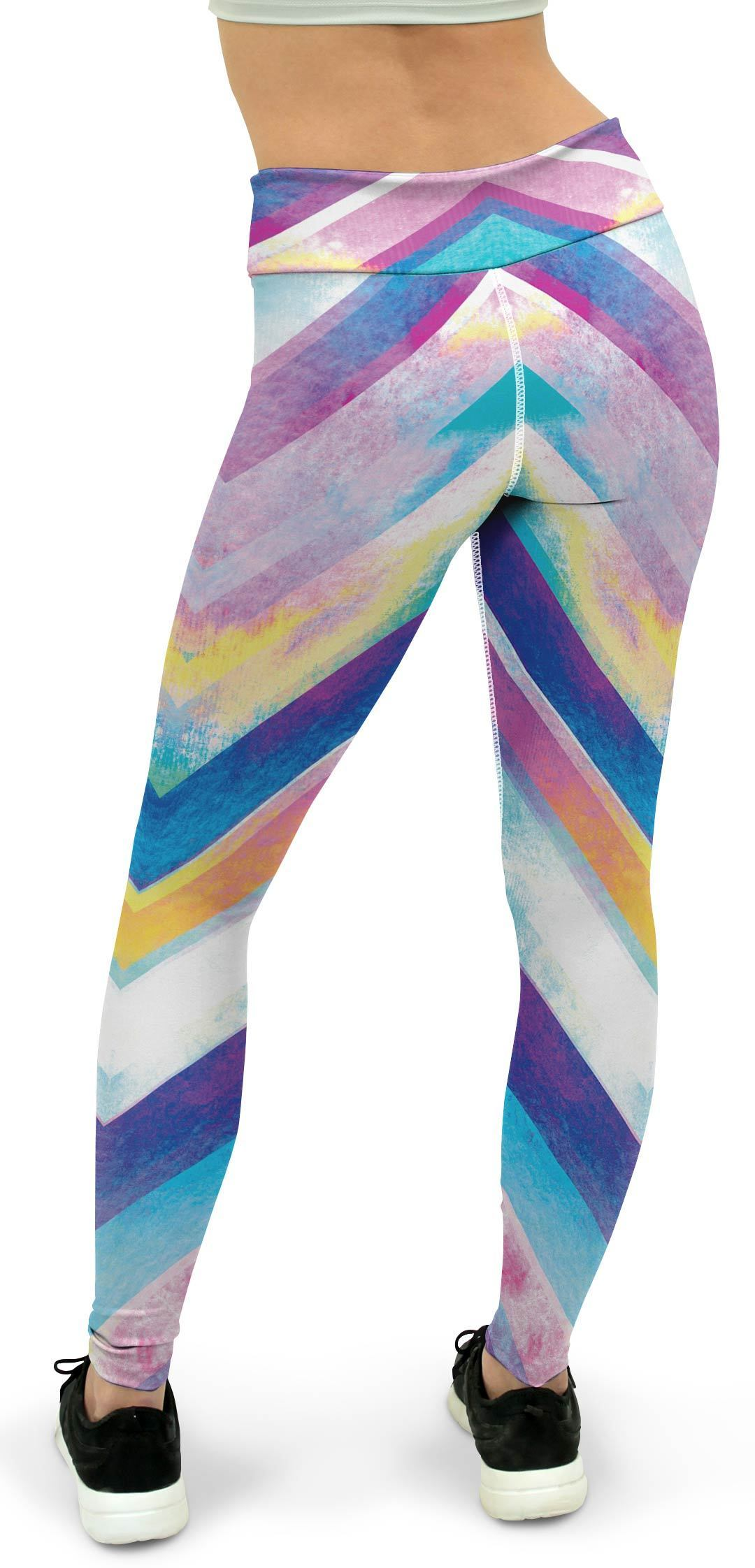 Zigzag Striped Yoga Pants