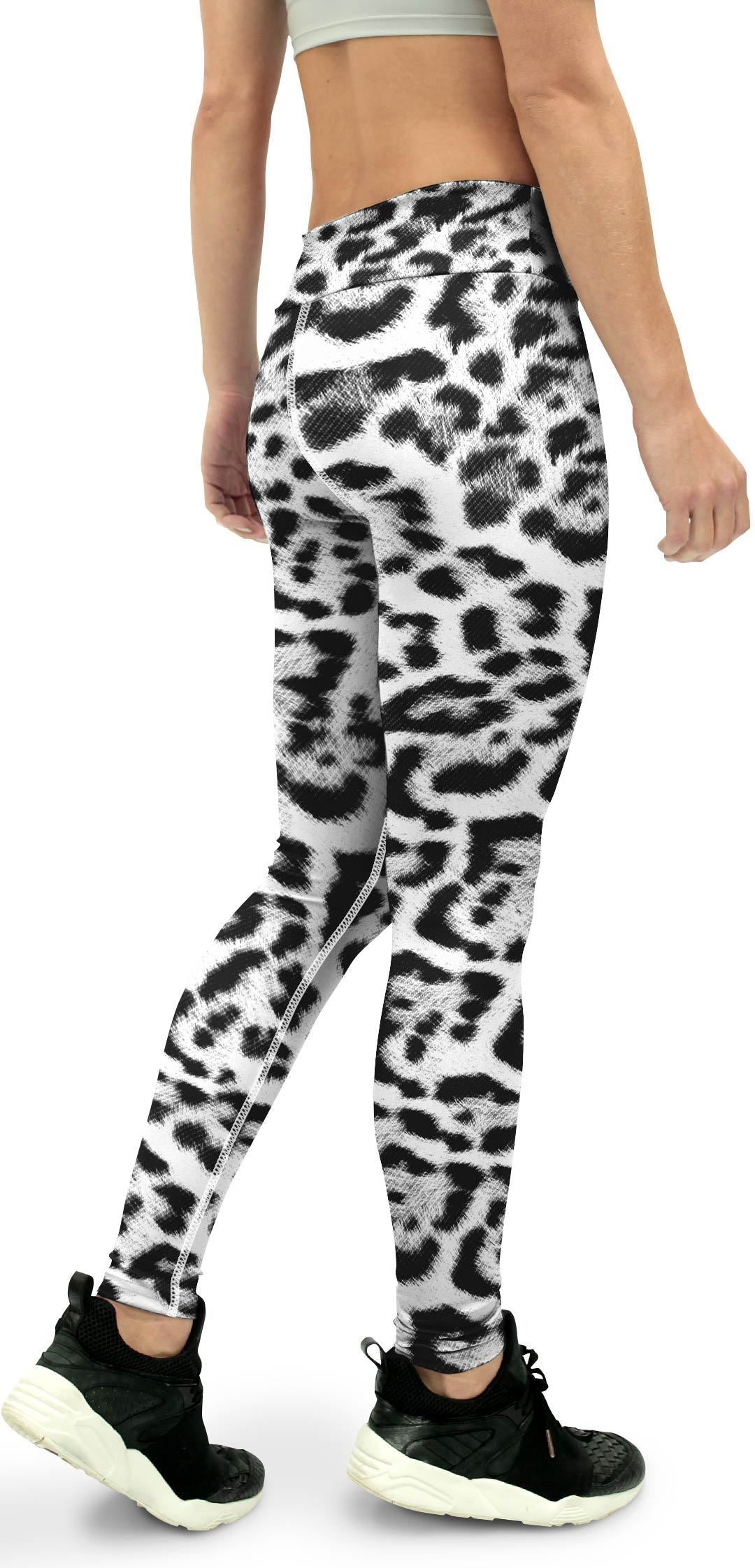 Snow Leopard Skin Yoga Pants