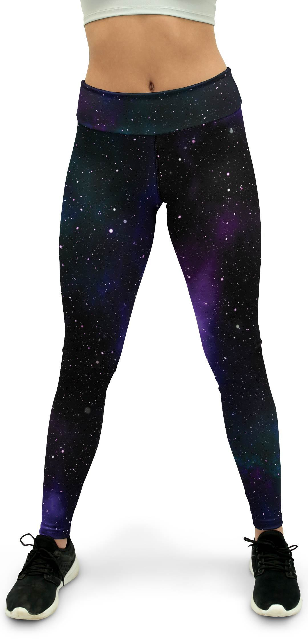 Purple Galaxy Yoga Pants